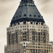 Stock Photo: Bottom-Up view of New York City Skyscrapers