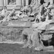 Architectural Detail of Trevi Fountain in Rome - Stock Photo