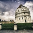 Romanesque style Baptistery in Pisa, Italy — Stock Photo