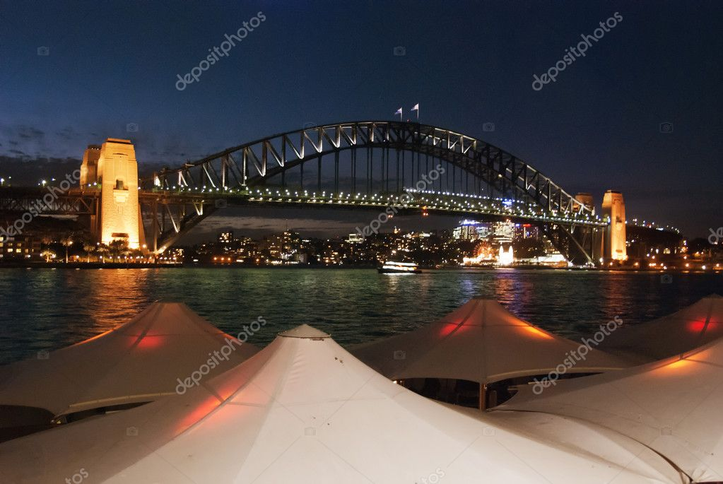 Sydney Harbour at Night, New South Wales, Australia — Stock Photo #12093165