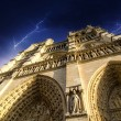 Notre Dame Cathedral - Paris, Dramatic view — Stock Photo