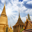"Famous Bangkok Temple - ""Wat Pho"" with Dramatic Sky — Stock Photo"