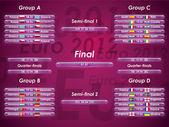 Euro 2012 fixtures — Stock Vector