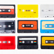 Collection of retro audio cassettes — Stock Photo