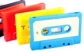 Cassetes áudio retrô — Foto Stock