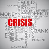 Financial Crisis Concept — Stock Vector
