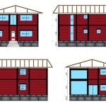 Architectural house design — Stock Vector