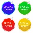 Special offer tags — Stock Vector