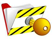 Locked folder — Stock Vector