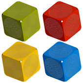 кубики лабиринт — Cтоковый вектор