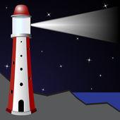 Gece feneri — Stok Vektör