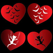 Scars of heart — Stock Vector