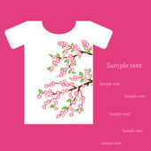 Camisetas de diseño — Vector de stock