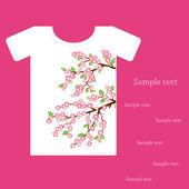T-shirt tasarımı için — Stok Vektör