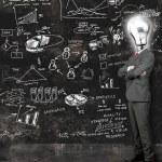 Businessman reflect on new ideas — Stock Photo