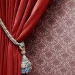Royalty-Free Stock Photo: Vintage red curtain