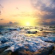 Sunset in the sea — Foto Stock