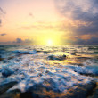 Sunset in the sea - Stock Photo