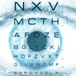 Test vision chart - Foto Stock