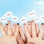 Social netowrk concept — Stock Photo