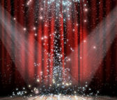 Red curtain with star — Stock Photo