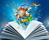 книга фантазия — Стоковое фото