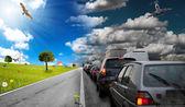 Inquinamento e natura — Foto Stock