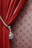 Vintage red curtain — Stock Photo