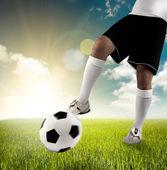 Play football — Stock Photo