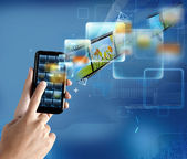 现代技术的智能手机 — 图库照片