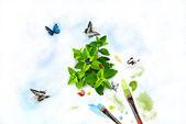 Pintar la naturaleza — Foto de Stock