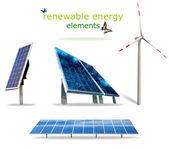 Elementos de las energías renovables — Foto de Stock