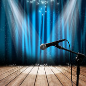 Stage and microphone — Stock Photo