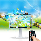 Television streaming — Stock Photo