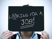 Człowiek szukaj pracy — Zdjęcie stockowe