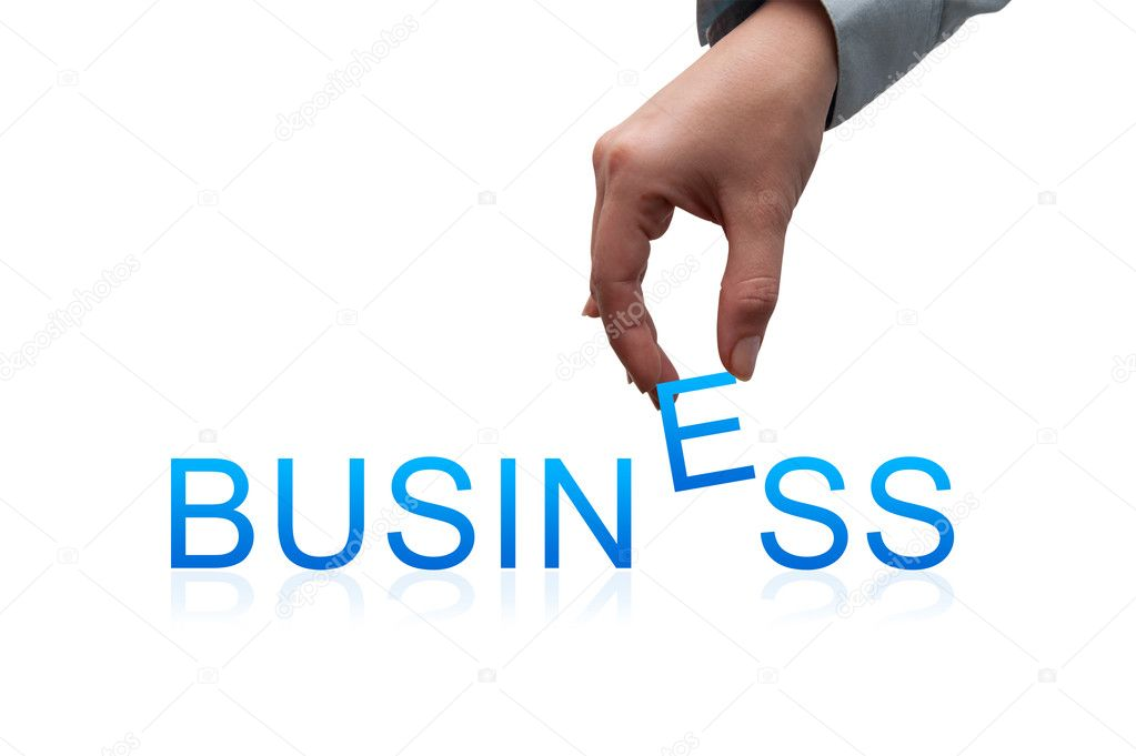 Business concept with hand and letter — Stok fotoğraf #11015793