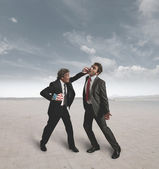 Businessmen and boxing challenge — Stock Photo