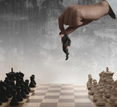 шахматы и бизнесмен — Стоковое фото