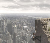 The climb to the success — Stock Photo