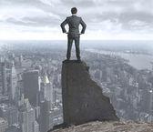 Uomo d'affari, preoccupati per il futuro — Foto Stock
