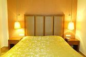 Apartment in the luxury hotel in night illumination, Halkidiki, — Stock Photo