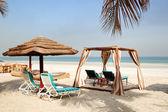 Stranden av den lyxiga hotell, ajman, förenade arabemiraten — Stockfoto