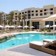 Swimming pool at the luxury hotel, Saadiyat island, Abu Dhabi, U — Stock Photo #11334695