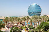 The luxury hotel and circular building, Abu Dhabi, UAE — Стоковое фото