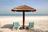 Beach of the luxury hotel, Ajman, UAE — Stock Photo