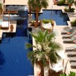 Swimming pool at the luxury hotel, Saadiyat island, Abu Dhabi, U — Stock Photo #11379213