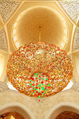 Sheikh zayed grand mosque interni, abu dhabi, uae — Foto Stock