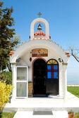 La piccola chiesa presso hotel, pieria, grecia — Foto Stock