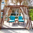 Hut on the beach of luxury hotel, Ajman, UAE — Stock Photo