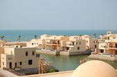 Villas at the luxury hotel, Ras Al Khaimah, UAE — Stock Photo